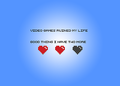 video games, minimalistic, geek, funny, hearts - related desktop wallpaper