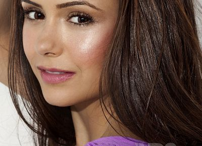 women, actress, celebrity, Nina Dobrev - random desktop wallpaper