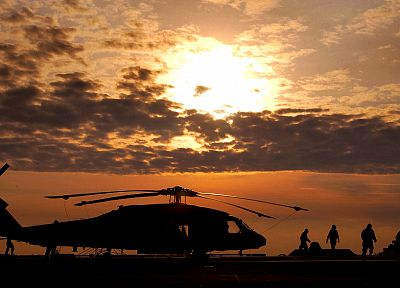 sunset, aircraft, military, helicopters, vehicles, UH-60 Black Hawk - related desktop wallpaper