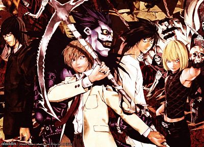 Death Note, Yagami Light, L., Kira, lawliet, raito - random desktop wallpaper