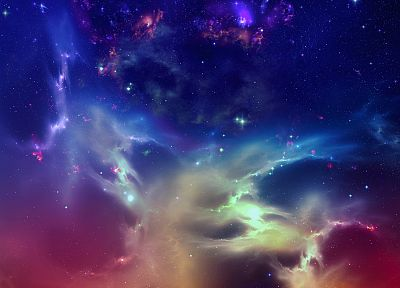 outer space, stars, nebulae, digital art, artwork - related desktop wallpaper