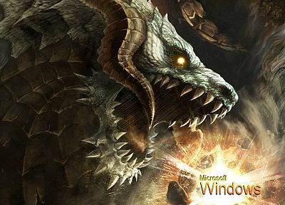 dragons, Lineage, artwork, Microsoft Windows, 3D, Antharas - related desktop wallpaper