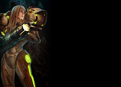 Metroid, video games, Samus Aran, varia, digital art, artwork, fan art - desktop wallpaper