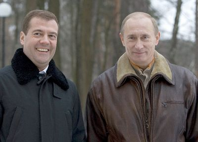 Vladimir Putin, Dmitry Medvedev - random desktop wallpaper