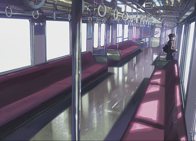 trains, Makoto Shinkai, lonely, 5 Centimeters Per Second, standing, artwork, vehicles, anime, empty - related desktop wallpaper