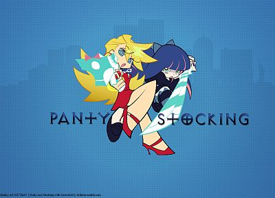 Panty and Stocking with Garterbelt, anime, anime girls, Anarchy Panty, Anarchy Stocking - desktop wallpaper