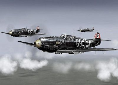 Germany, World War II, Luftwaffe, planes - random desktop wallpaper