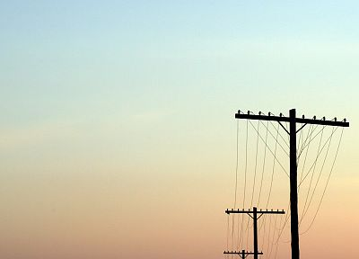 sunset, power lines, skyscapes - related desktop wallpaper