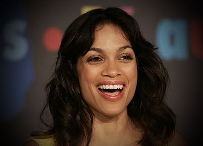 brunettes, women, actress, Rosario Dawson, faces - random desktop wallpaper