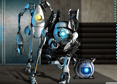 atlas, Portal 2, Wheatley, P-body - random desktop wallpaper