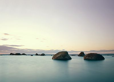 water, rocks, boulder - random desktop wallpaper