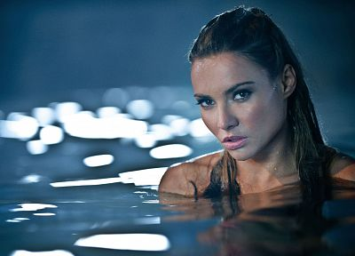 brunettes, women, water, faces, brea berrett - random desktop wallpaper