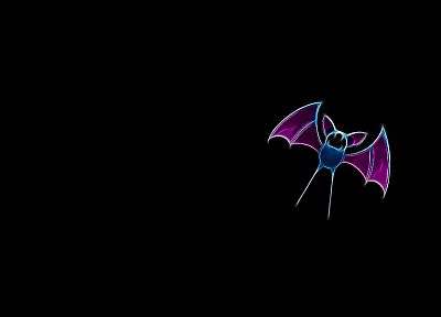 Pokemon, simple background, black background, Zubat - related desktop wallpaper