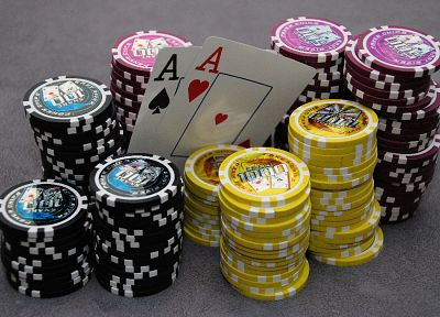 cards, poker, poker chips - random desktop wallpaper