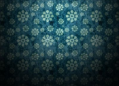 minimalistic, pattern, flowers, patterns, backgrounds - desktop wallpaper