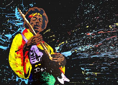 music, Jimi Hendrix, artwork - random desktop wallpaper