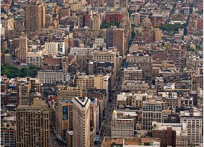 cityscapes, buildings, traffic, New York City, Manhattan, skyscrapers - related desktop wallpaper