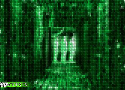 green, The Matrix, Legos - random desktop wallpaper