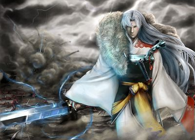 Inuyasha, Japanese clothes, Sesshomaru - related desktop wallpaper