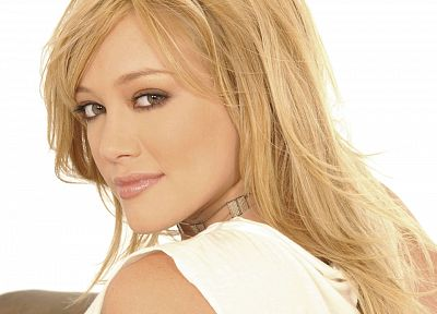 blondes, women, Hilary Duff, celebrity, white background - related desktop wallpaper