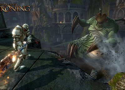 fantasy, video games, monsters, knights, RPG, screenshots, gaming, action, adventure, Reckoning, Kingdoms of Amalur, swords - related desktop wallpaper