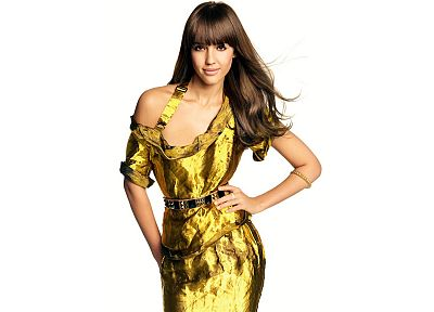 women, dress, Jessica Alba, actress, gold - related desktop wallpaper