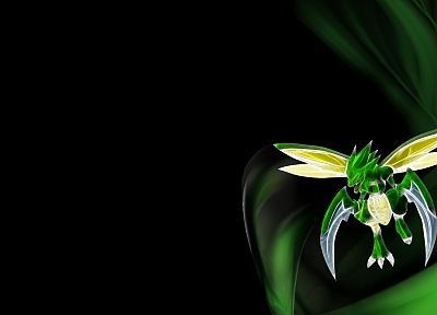 Pokemon, Scyther, black background - desktop wallpaper