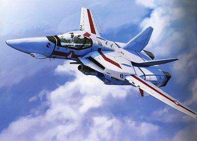 aircraft, Macross, planes, vehicles, Hikaru Ichijo - random desktop wallpaper