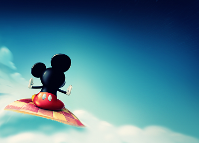 clouds, Disney Company, Mickey Mouse - random desktop wallpaper