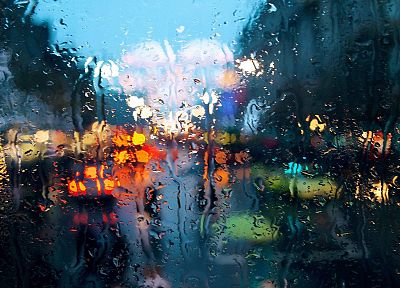 water, cityscapes, lights, rain, wet, rain on glass - random desktop wallpaper