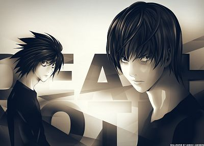 Death Note, Yagami Light, L. - random desktop wallpaper