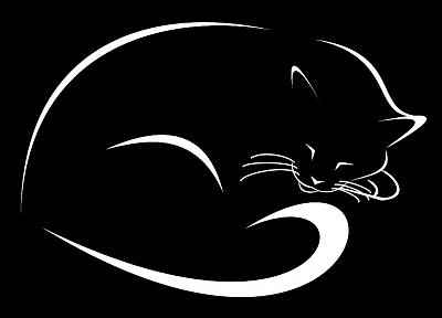 minimalistic, cats - random desktop wallpaper