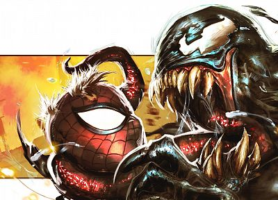 Venom, Spider-Man, Marvel Comics - random desktop wallpaper