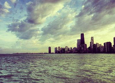 water, cityscapes, Chicago, skyscapes - random desktop wallpaper