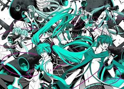 Vocaloid, Hatsune Miku, Megurine Luka, Kaito (Vocaloid), Kagamine Rin, Kagamine Len, Love is War, Megpoid Gumi, Meiko, Kamui Gakupo - desktop wallpaper