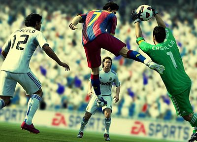video games, Real Madrid, FC Barcelona, football teams - random desktop wallpaper