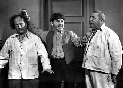 Three Stooges, Larry Fine, Moe Howard, Curly Howard - random desktop wallpaper