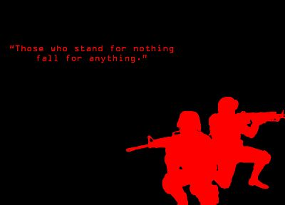 soldiers, text, black background - random desktop wallpaper