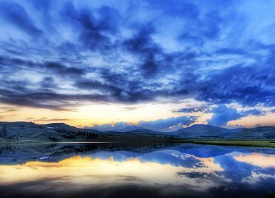 clouds, landscapes, nature, lakes, skyscapes - random desktop wallpaper