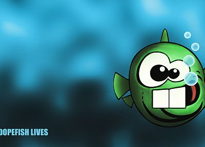 video games, Commander Keen, Dopefish - related desktop wallpaper