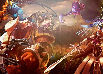 video games, orange, League of Legends, bot, Teemo, Alistar, Miss Fortune, Leona, lolbot, Ashe the Frost Archer, Lulu the Fae Sorceress, League of Legends Championship, varus, bot lane - random desktop wallpaper