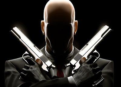 pistols, guns, Hitman, Agent 47 - random desktop wallpaper