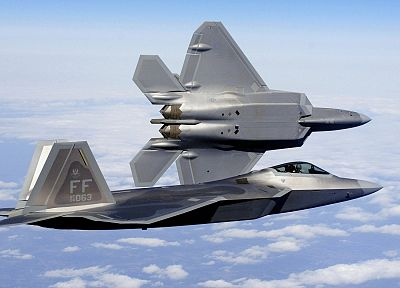 aircraft, military, F-22 Raptor, fighter jets - related desktop wallpaper