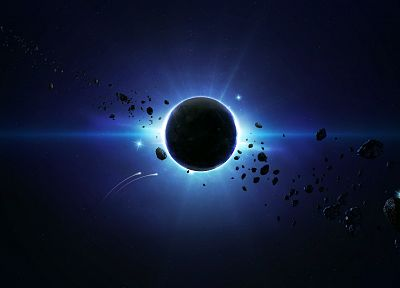 outer space, eclipse, the universe, journey - random desktop wallpaper