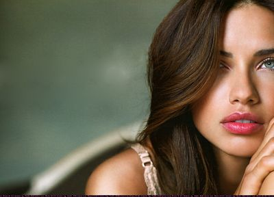 brunettes, women, Adriana Lima, models - desktop wallpaper