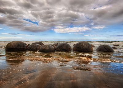 water, clouds, nature, rocks, sea - desktop wallpaper