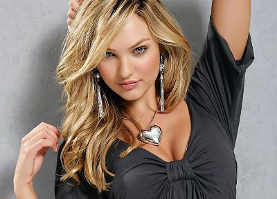 blondes, women, blue eyes, models, Candice Swanepoel - related desktop wallpaper