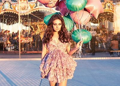 women, Mila Kunis, actress, merry-go-round - random desktop wallpaper