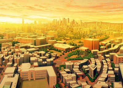 cityscapes, digital, buildings - related desktop wallpaper