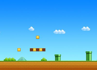 Nintendo, video games, Mario, Super Mario, beginning, retro games - related desktop wallpaper